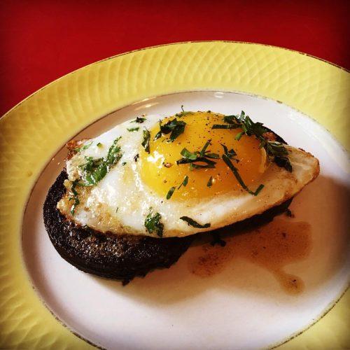 Boudin noir and duck egg