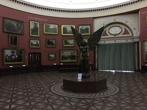Freaky statue at the Birmingham Museum & Gallery