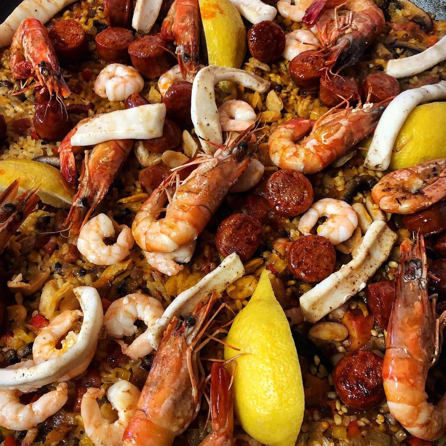 Spanish inspired rice dish