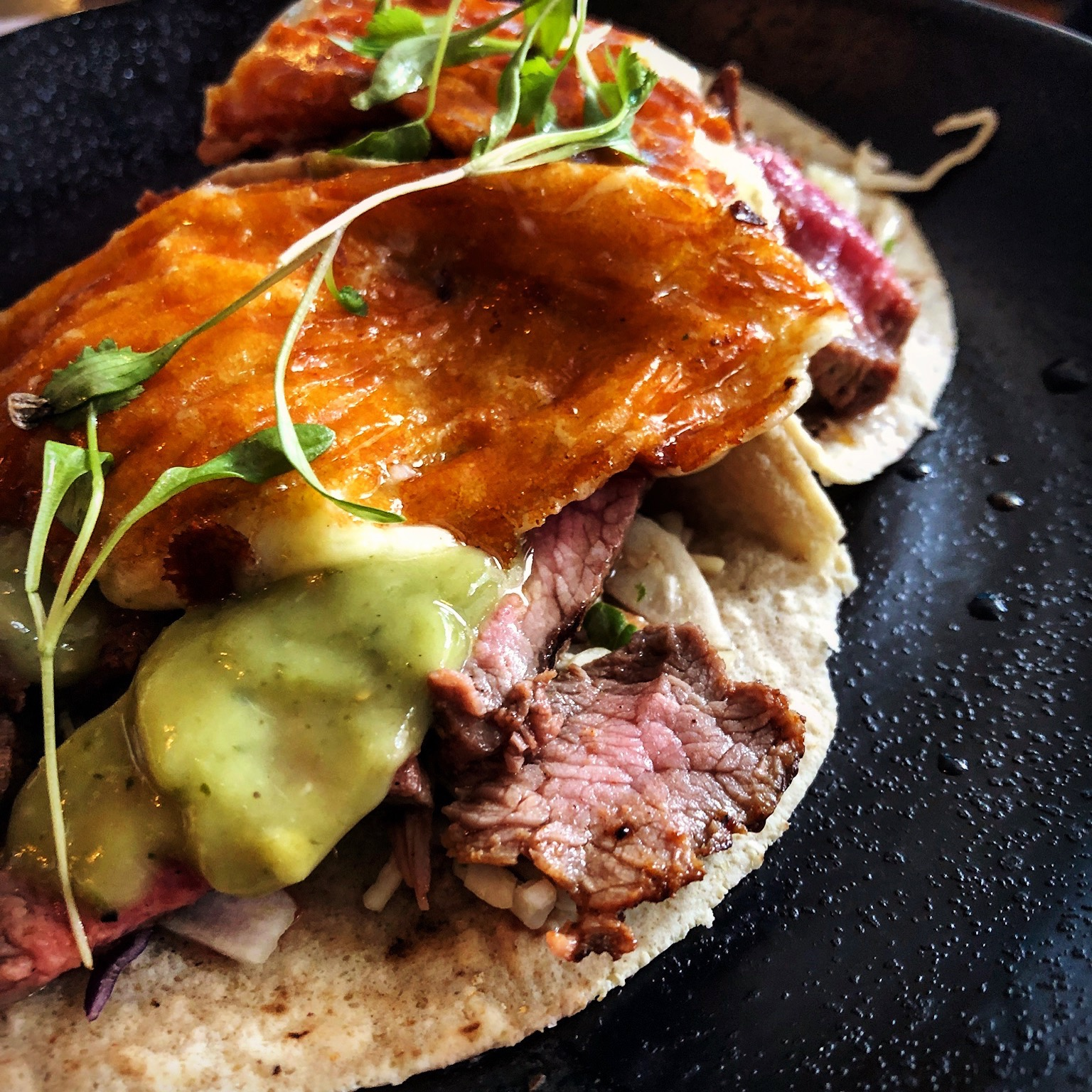 chargrilled steak served with grilled cheese, chipotle salsa & avocado