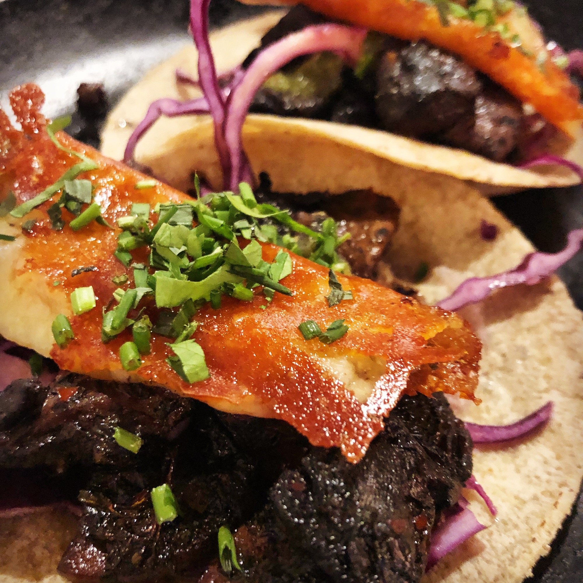 grilled mushroom & cheese tacos